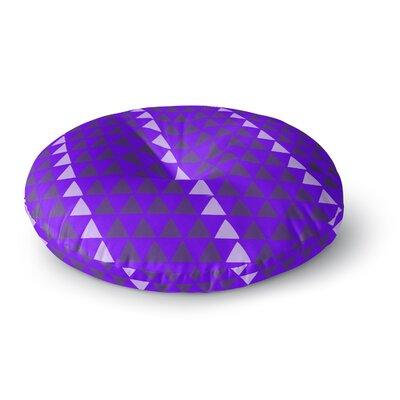 Matt Eklund Overload - Purple Digital Round Floor Pillow Size: 26 x 26