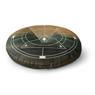 Matt Eklund Lost City Geometric Round Floor Pillow Size: 23 x 23