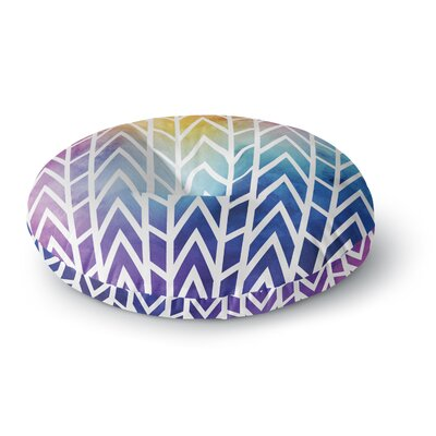 Matt Eklund Shattering Rainbows Abstract Round Floor Pillow Size: 23 x 23