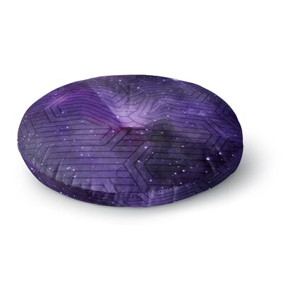 Matt Eklund Cosmic Labyrinth Round Floor Pillow Size: 23 x 23