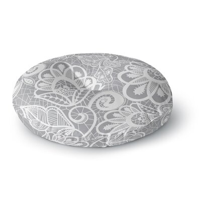 Petit Griffin Lace Flower Round Floor Pillow Size: 26 x 26
