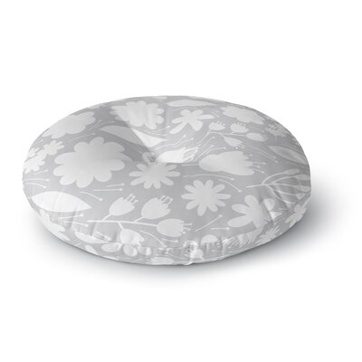 Petit Griffin Leaf Digital Round Floor Pillow Size: 26 x 26