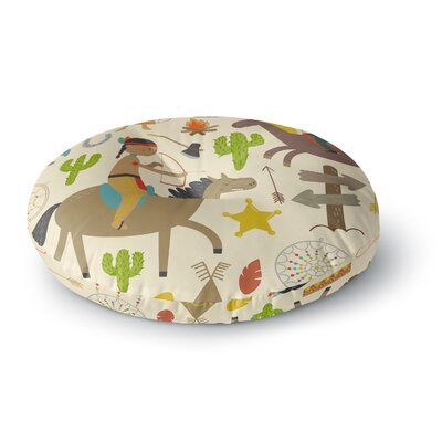 Petit Griffin Tipi Kids Round Floor Pillow Size: 26 x 26