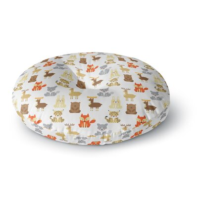 Petit Griffin Retro Animals Round Floor Pillow Size: 23 x 23