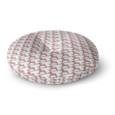 Petit Griffin Dala Horse Round Floor Pillow Size: 26 x 26