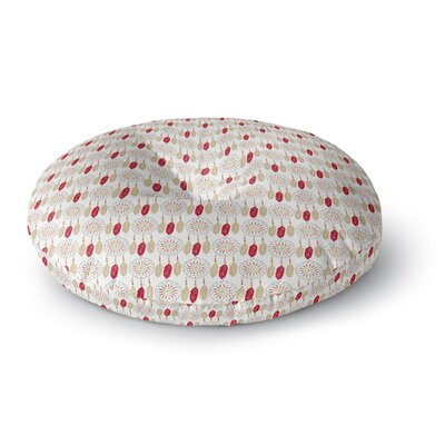 Petit Griffin Dreams in Color Red Round Floor Pillow Size: 23 x 23