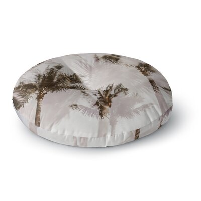 Mary Carol Fitzgerald Abstract Palms Photography Round Floor Pillow Size: 26 x 26