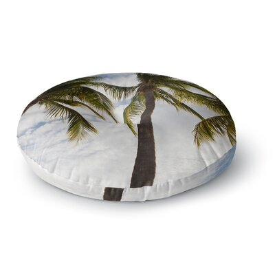 Mary Carol Fitzgerald Paradise Palms Photography Round Floor Pillow Size: 26 x 26