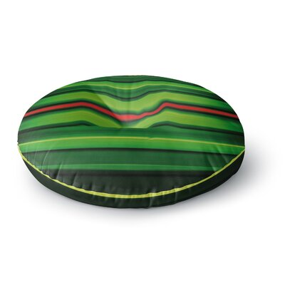 Matthias Hennig Stripes Round Floor Pillow Size: 26 x 26