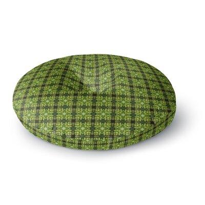 Matthias Hennig Floral Green Floral Geometric Round Floor Pillow Size: 23 x 23