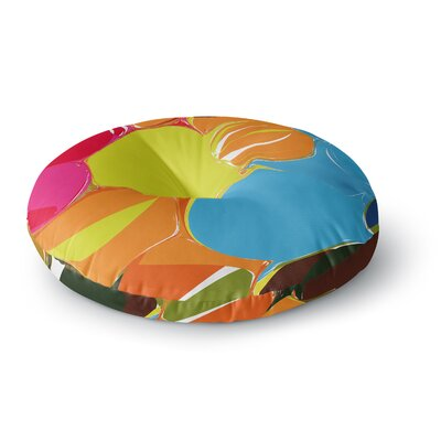Matthias Hennig Bubbles Rainbow Circles Round Floor Pillow Size: 26 x 26