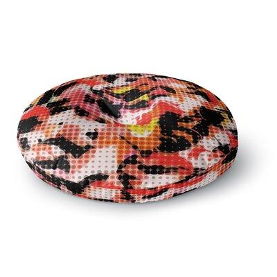 Matthias Hennig Camouflage Grid Round Floor Pillow Size: 23 x 23