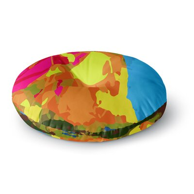 Matthias Hennig Colored Plastic Round Floor Pillow Size: 26 x 26