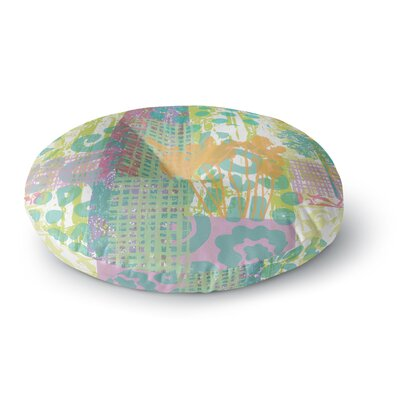 Chickaprint Dazed Splatter Round Floor Pillow Size: 26 x 26