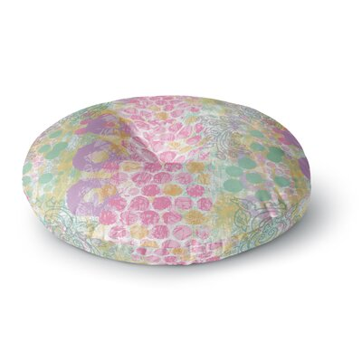 Chickaprint Impression Mix Round Floor Pillow Size: 23 x 23