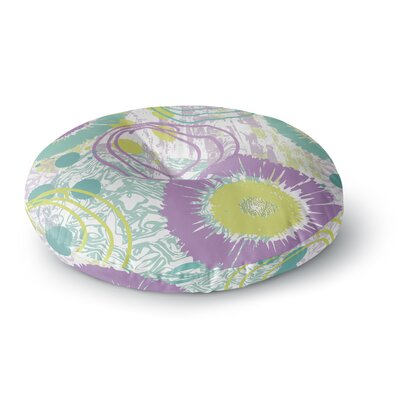 Chickaprint Splatter Round Floor Pillow Size: 23 x 23