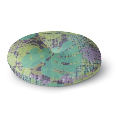 Chickaprint Verdure Collage Round Floor Pillow Size: 23 x 23