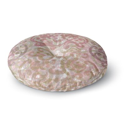 Chickaprint Chintz Round Floor Pillow Size: 26 x 26