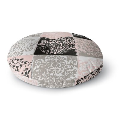 Chickaprint Damaskmix Round Floor Pillow Size: 23 x 23