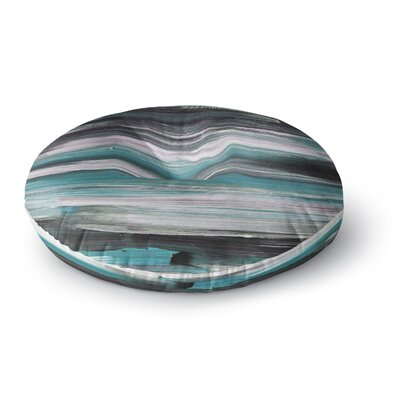 Hitidesign Mixed Brush Strokes Painting Round Floor Pillow Size: 23 x 23