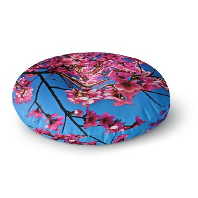 Maynard Logan Flowers Round Floor Pillow Size: 23 x 23
