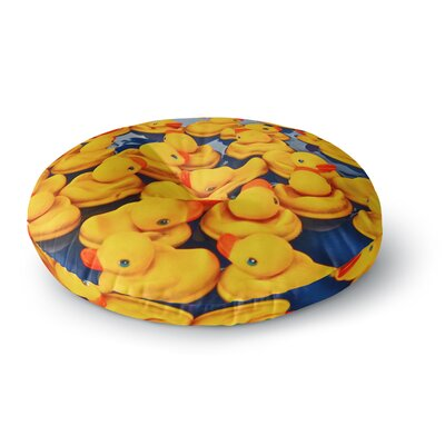 Maynard Logan Duckies Round Floor Pillow Size: 26 x 26