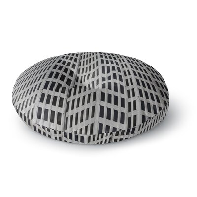 Maynard Logan The Grid Round Floor Pillow Size: 23 x 23