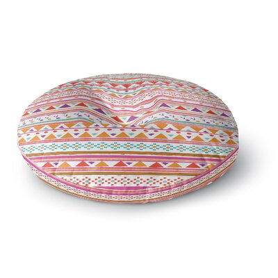 Nika Martinez Native Bandana Round Floor Pillow Size: 26 x 26