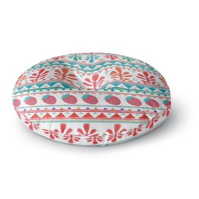 Nika Martinez Spring Strawberries Round Floor Pillow Size: 23 x 23