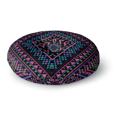 Nika Martinez Neon Pattern Round Floor Pillow Size: 23 x 23