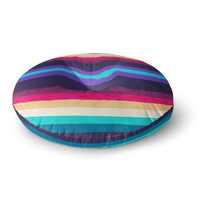 Nika Martinez Surf Stripes Round Floor Pillow Size: 23 x 23