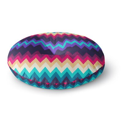 Nika Martinez Surf Chevron Round Floor Pillow Size: 23 x 23
