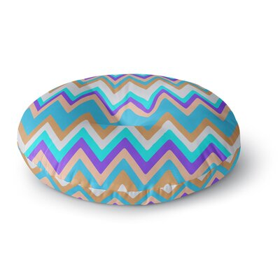 Nika Martinez Girly Surf Chevron Round Floor Pillow Size: 23 x 23