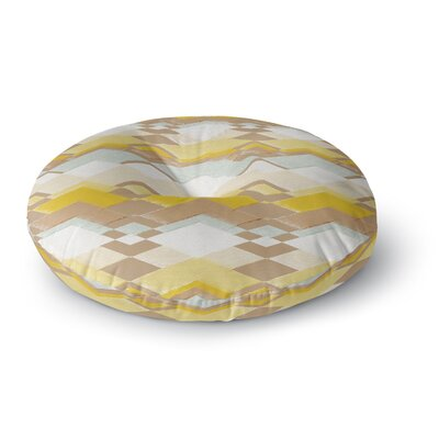 Nika Martinez Retro Desert Round Floor Pillow Size: 26 x 26