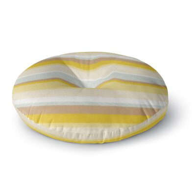 Nika Martinez Desert Stripes Round Floor Pillow Size: 26 x 26