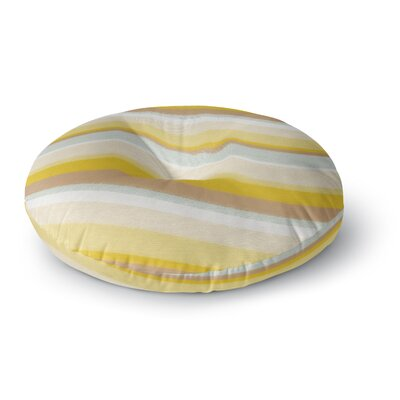 Nika Martinez Desert Waves Round Floor Pillow Size: 23 x 23