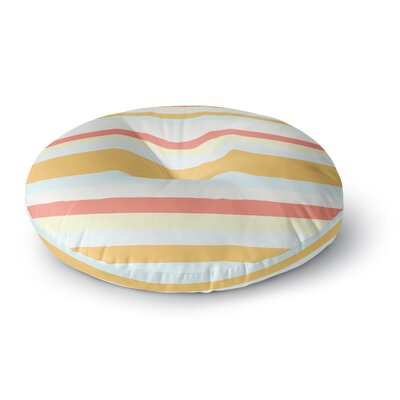 Nika Martinez Sand Stripes Round Floor Pillow Size: 26 x 26