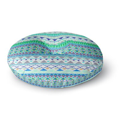 Nika Martinez Emerald Chenoa Round Floor Pillow Size: 23 x 23