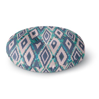 Nika Martinez Tribal Ikat Round Floor Pillow Size: 26 x 26