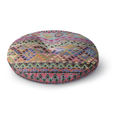 Nika Martinez Tribal Native Round Floor Pillow Size: 26 x 26
