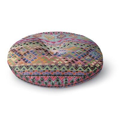 Nika Martinez Tribal Native Round Floor Pillow Size: 23 x 23