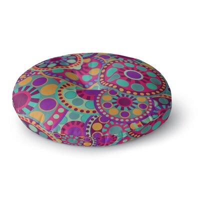 Nika Martinez Valencia Round Floor Pillow Size: 23 x 23