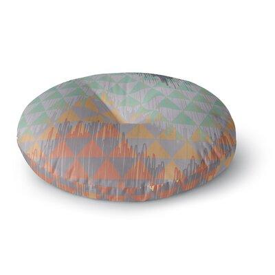 Nika Martinez Ikat Geometrie Round Floor Pillow Size: 26 x 26