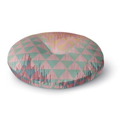 Nika Martinez Ikat Geometrie II Round Floor Pillow Size: 26 x 26