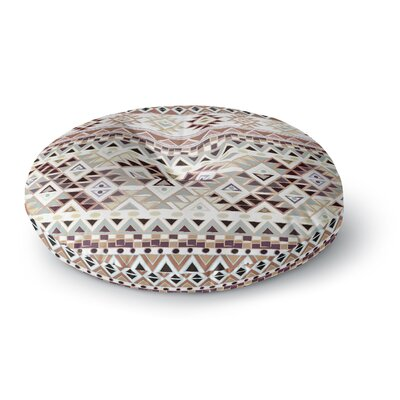 Nika Martinez Tribal Native in Pastel Brown Round Floor Pillow Size: 23 x 23
