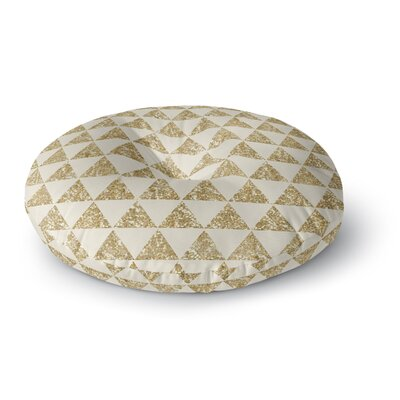 Nika Martinez Glitter Triangles in Gold Round Floor Pillow Size: 23 x 23