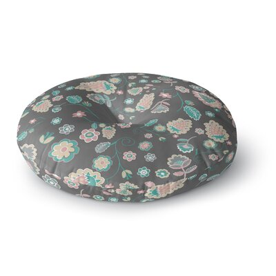 Nika Martinez Cute Winter Floral Round Floor Pillow Size: 26 x 26