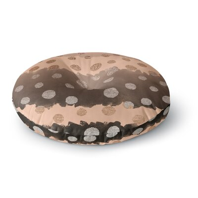 Nika Martinez Earth Dots Round Floor Pillow Size: 26 x 26