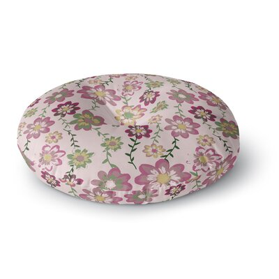Nika Martinez Romantic Flowers in Pink Blush Floral Round Floor Pillow Size: 26 x 26