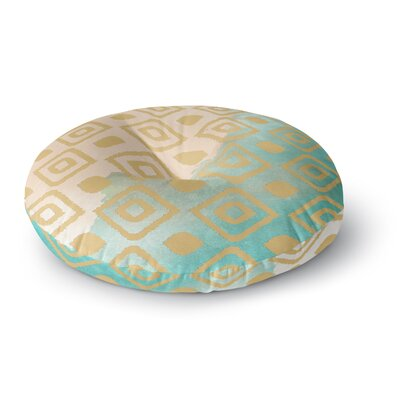 Nika Martinez Watercolor Ikat Round Floor Pillow Size: 26 x 26